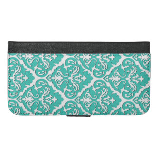 Damask Wallet Phone Case by Elle Rose