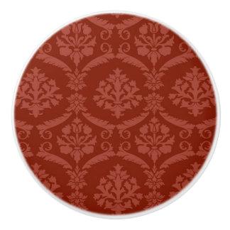 Damask wallpaper 3 ceramic knob