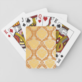 Damask wallpaper 5 playing cards