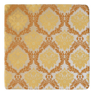 Damask wallpaper 5 trivet