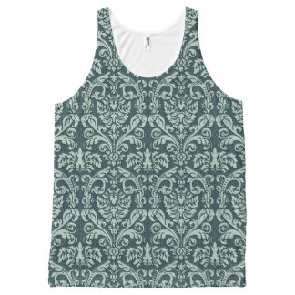 Damask wallpaper 6 All-Over print tank top