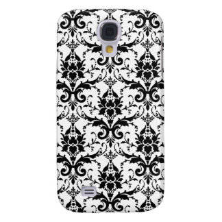 Damask Wallpaper B & W Galaxy S4 Case