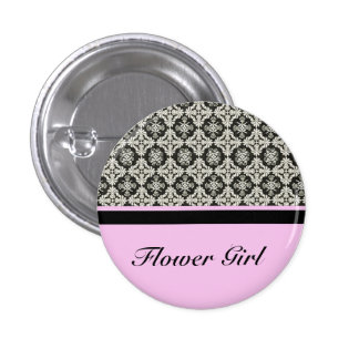 damask wedding button