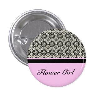 damask wedding button