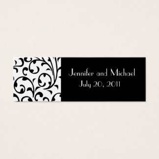 Damask Wedding Favor Gift Tags Mini Business Card