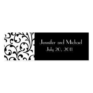 Damask Wedding Favor Gift Tags Pack Of Skinny Business Cards