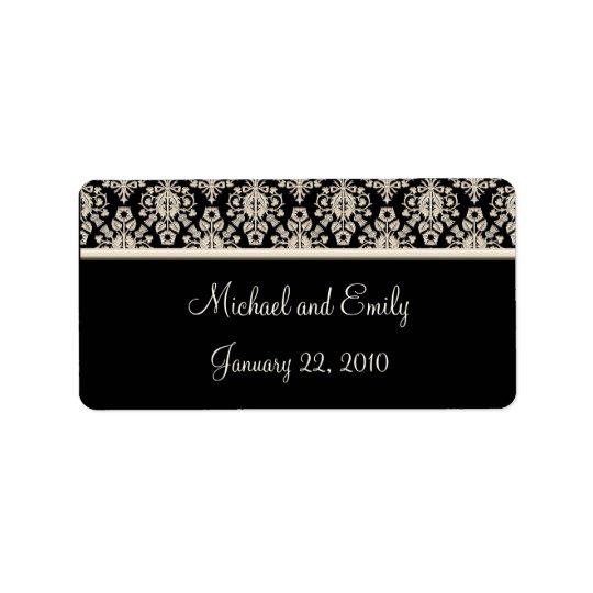 Damask Wedding Favour Labels