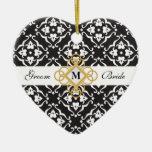 Damask Wedding Keepsake Christmas Ornament