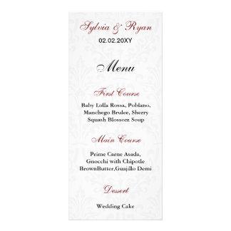 Damask Wedding Menus Custom Rack Cards