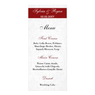 Damask Wedding Menus Customized Rack Card