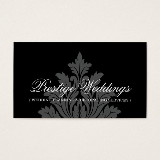Damask Wedding Planner Business Card