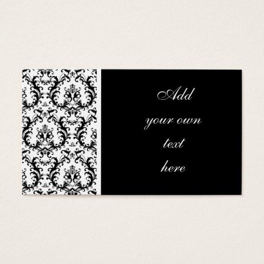 Damask Wedding Planner Business Cards
