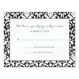 Damask Wedding RSVP Cards