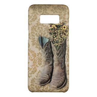 Damask wildflower Western country cowboy boots Case-Mate Samsung Galaxy S8 Case