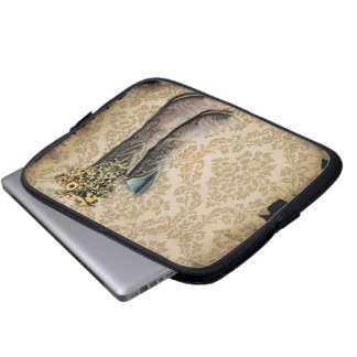 Damask wildflower Western country cowboy boots Laptop Computer Sleeves
