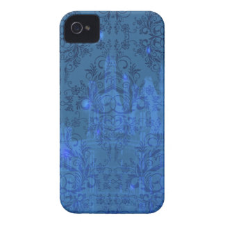 Damask Wildflowers, Angel's Castle in Blue iPhone 4 Case-Mate Case