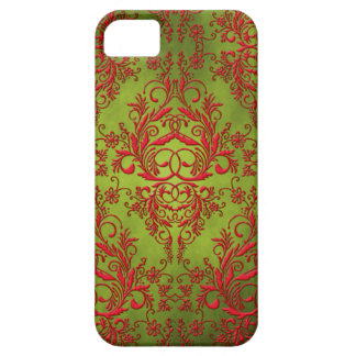 Damask Wildflowers, Electra in Chartreuse and Red Barely There iPhone 5 Case