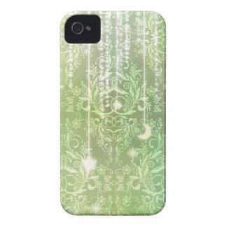 Damask Wildflowers, Madam Valeska in Green iPhone 4 Cases