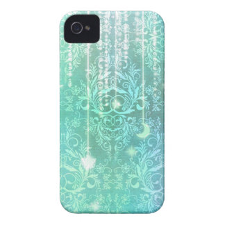 Damask Wildflowers, Madam Valeska in Turquoise iPhone 4 Case-Mate Cases