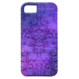 Damask Wildflowers, Oceanic in Purple and Blue iPhone 5 Cover