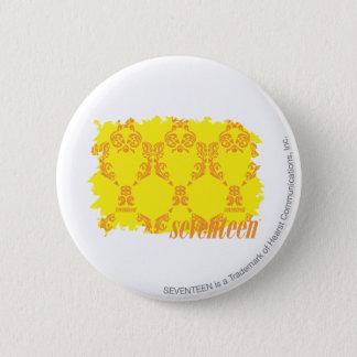 Damask Yellow-Orange 2 6 Cm Round Badge