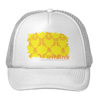 Damask Yellow-Orange 2 Mesh Hats