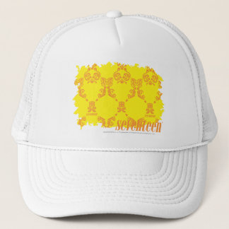 Damask Yellow-Orange 2 Trucker Hat