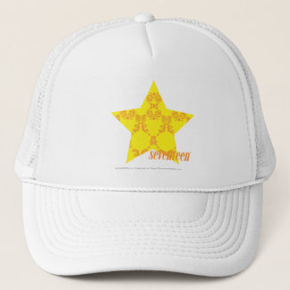 Damask Yellow-Orange 3 Trucker Hat