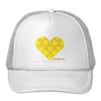 Damask Yellow-Orange 4 Cap