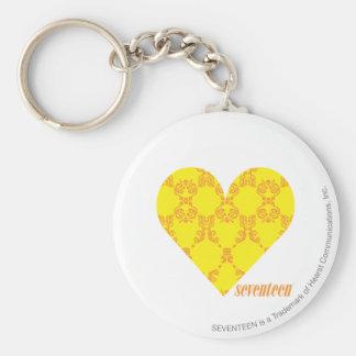 Damask Yellow-Orange 4 Key Ring