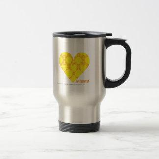 Damask Yellow-Orange 4 Travel Mug