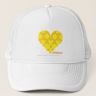 Damask Yellow-Orange 4 Trucker Hat