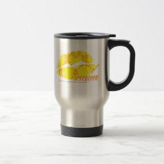 Damask Yellow-Orange Travel Mug
