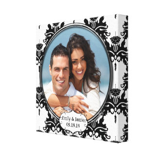 Damask Your Photo Wrapped Canvas Stretched Canvas Prints