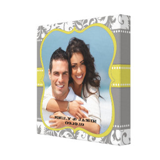 Damask Your Photo Wrapped Canvas Canvas Prints