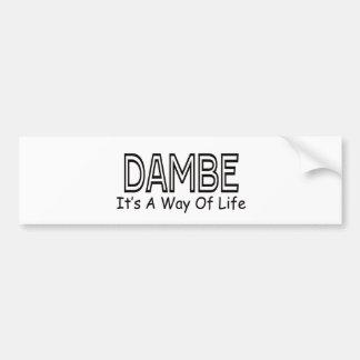 Dambe It s A Way Of Life Bumper Sticker
