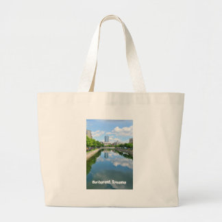 Dambovita river in Bucharest, Romania Large Tote Bag
