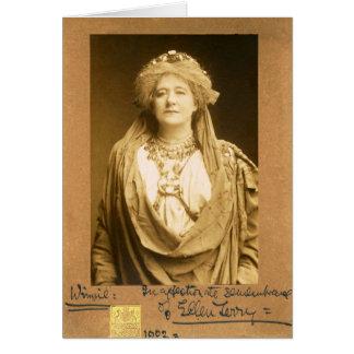 Dame Ellen Terry as Volumnia in Coriolanus Card