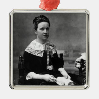Dame Millicent Fawcett, c.1880 Silver-Colored Square Decoration