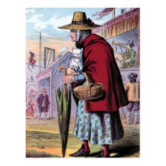 """Dame Trot buys the Cat"" Vintage Illustration Postcards"