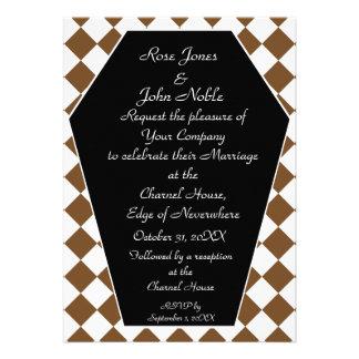 Damier Ivory (Brown) Wedding Invitation