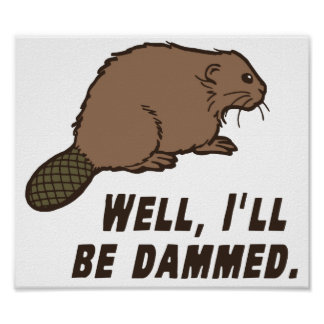 Dammed Beaver Print