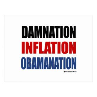 DAMNATION, INFLATION, OBAMANATION POSTCARD