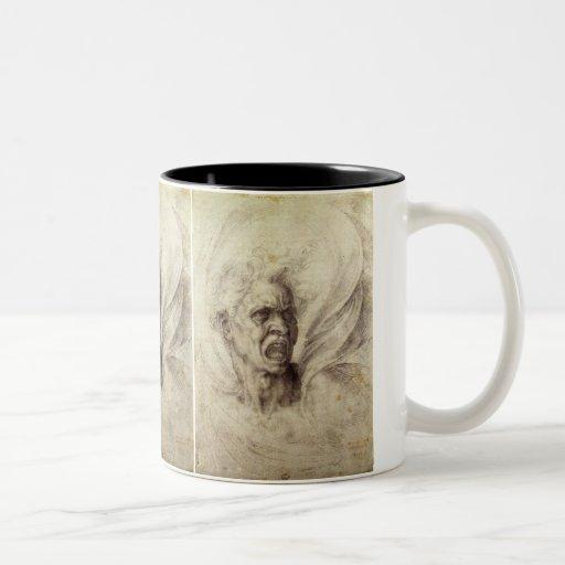 Damned Soul by Michelangelo, Renaissance Art Mugs