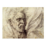 Damned Soul by Michelangelo, Renaissance Art Post Card