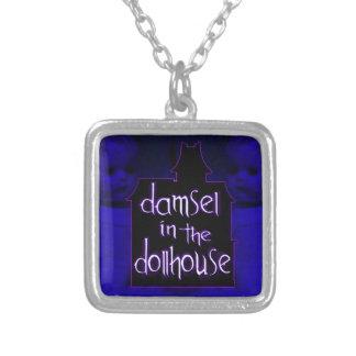 Damsel in the Dollhouse Necklace (blue/purple)