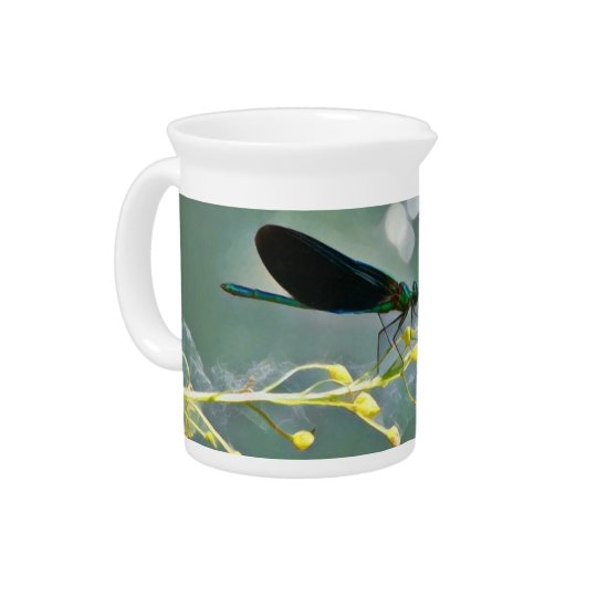 Damselfly Painting Pitcher