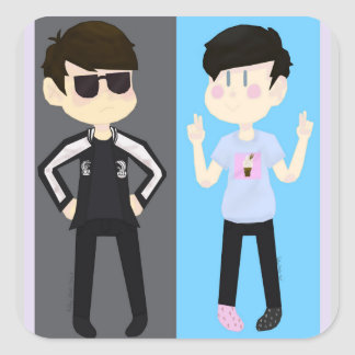 Dan and Phil Diss Track Stickers