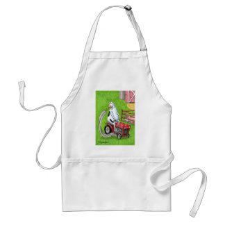 Dan Reynolds | Apron | Cow Mows Her Dinner