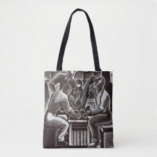 Dan Rico - The Noon Game - Federal Art Project Tote Bag